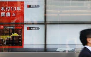 1日半にわたって値がつかなかった長期金利(5月2日、東京都中央区)