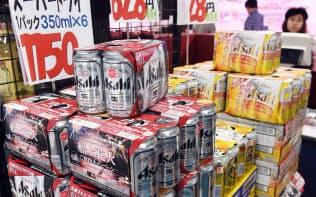 アサヒビールは「スーパードライ」が主力で、国内ビール系で4割弱とシェア首位だが、市場は縮小している