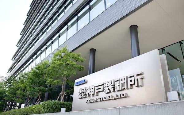 品質データ改ざんには管理職もかかわっていたという(神戸市中央区の神戸製鋼所本社)