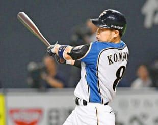 日本ハム・近藤は交流戦途中まで打率4割をキープした=共同