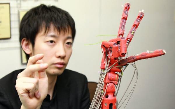 メルティンMMIによる人体の機械化技術「筋電義手」(東京・渋谷)