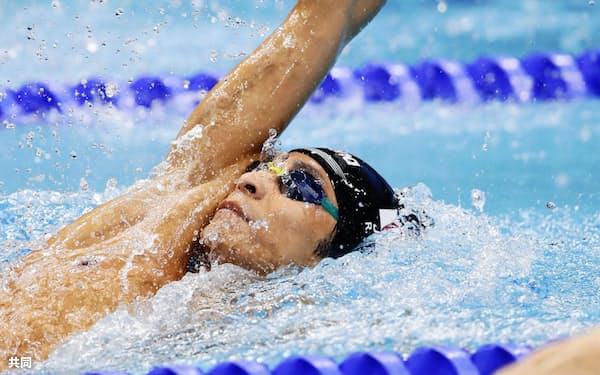 男子200メートル背泳ぎ決勝で7位だった入江陵介(28日、ブダペスト)=共同