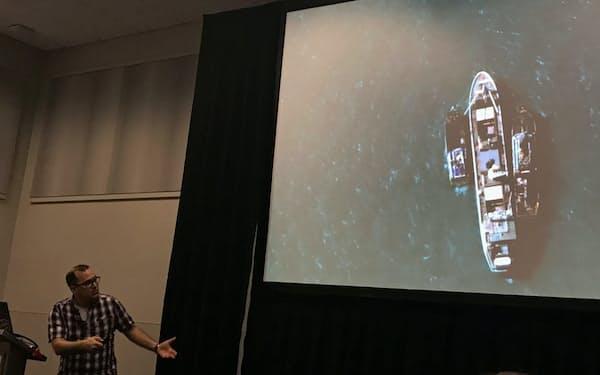 デジタルグローブが撮影し、AP通信の報道につながった違法漁船の画像