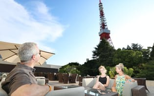 2度目の五輪を迎える老舗の「東京プリンスホテル」。テラスからは東京タワーが間近に眺められる(東京都港区)