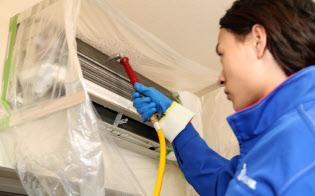エアコンクリーニングは内部のカビやほこりを洗浄することができる