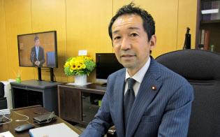 福田峰之・衆院議員は「政官民学がタッグを組んでルール形成に当たるべきだ」と主張する