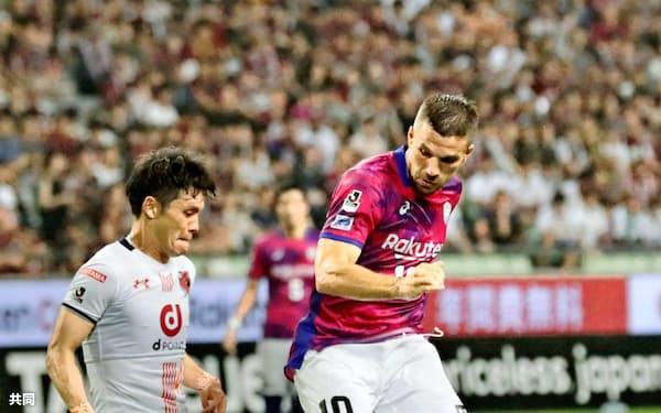 ポドルスキが日本のサッカーに順応するにはまだ時間がかかりそうだ=共同