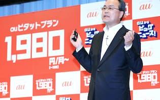 KDDIの田中社長は他社からの乗り換え倍増に「予想外」と驚いた