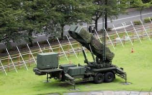 防衛省に配備されたPAC3(29日)
