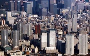 東京都心のマンション群