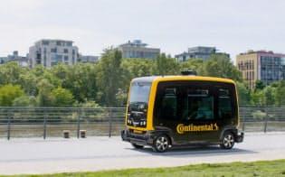 コンチネンタルが自社のノウハウを集め開発した電動の自動運転車「CUbE(キューブ)」=同社提供