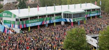 ハイネケンは15年W杯でロンドンのスタジアム周辺にビールを提供する施設を出した