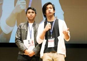 日経特別賞を受賞したフィリピンのデ・ラ・サール大学のチーム(21日、東京・丸の内)