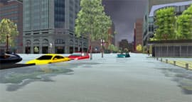 グリーとJAXAが共同で制作した「世界一の雨降り体験VR」の画面