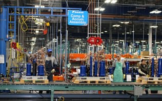 ダイキン工業は急速なグローバル展開に合わせた生産システムの整備が急務となっている(米テキサス州の工場)