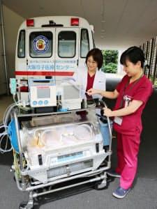 大阪母子医療センターは保育器買い替えのための寄付を呼びかけている(大阪府和泉市)