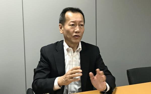 テックポイント・インクの小里文宏社長は東証マザーズ上場を機に、日本での取引拡大を狙う