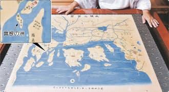 露天神社に残されている平安時代の大阪を描いた地図