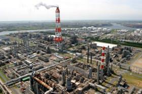 日本ポリプロの鹿島工場は三菱ケミカルの鹿島事業所内にある(茨城県神栖市)