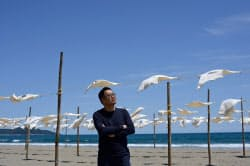 砂浜美術館の考え方は世界各地に広がる(高知県黒潮町)