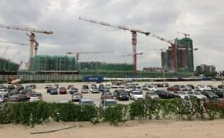 イスカンダル地区では建設中のプロジェクトが目白押しだ