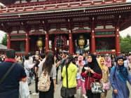 訪日客の増加も高評価につながった(東京都台東区)