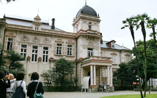 英国や米国などの様式を取り入れた旧岩崎邸庭園の洋館(東京都台東区)