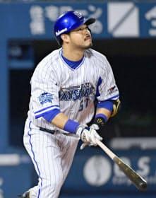 セ・リーグの首位打者になったDeNA・宮崎も最後まで試合に出続けた=共同