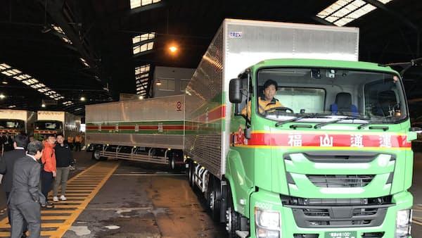連結トラック、18年度内にも解禁 運転手不足に対応