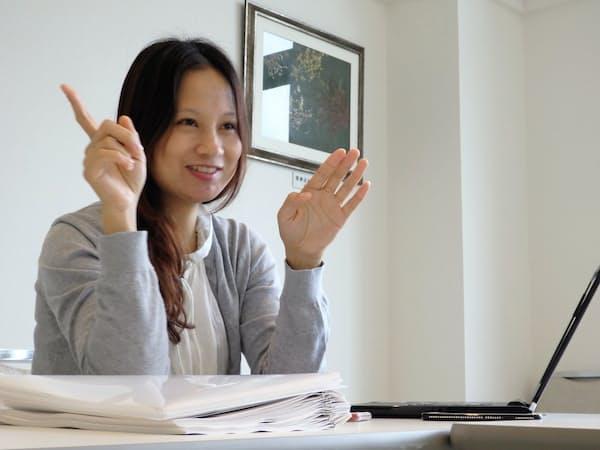 ベトナムの技能実習生送り出し機関の日本事業担当者レンさんは出張で1カ月間、日本に滞在する(新潟県南魚沼市)