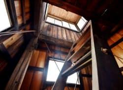 はしごが設けられたシンプルな構造