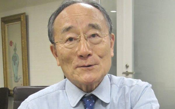 極東証券の菊池会長は日経平均の先行きについて33%程度の下落もあり得ると警鐘をならす(東京都中央区の極東証券本店)