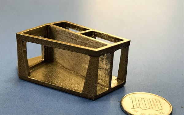 3Dプリンターで成形した熱膨張ゼロ合金の部品