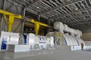 中部電力は、9月に稼働した西名古屋火力発電所の設備を報道陣に公開した(31日、愛知県飛島村)