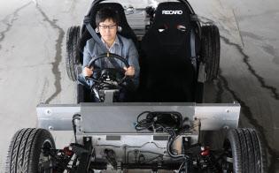 GLMが開発中のEVスポーツカー。香港企業が出資する(京都市)