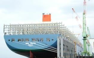 商船三井は世界最大級の大型コンテナ船を6隻投入