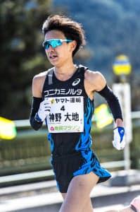 2月の青梅マラソンでは日本人トップの3位に入った=コニカミノルタ提供