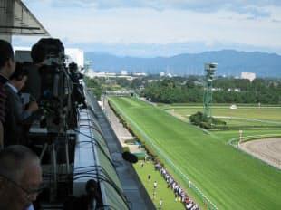 新潟競馬場の名物となっている直線1000メートルコース