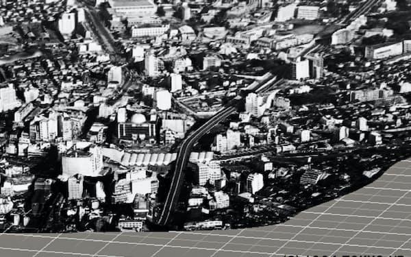 当時撮られた複数の写真を基に、1964年の渋谷を3Dで再現した