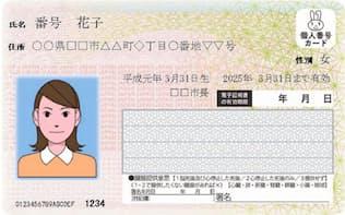 マイナンバーカード(見本)
