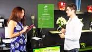 「eペソ」を使い、店舗での携帯電話での決済が可能になる(ウルグアイ中銀が公開した動画より)