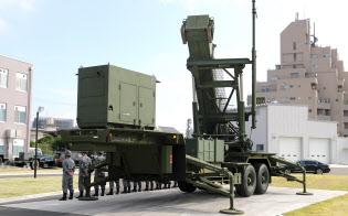 地対空誘導弾パトリオットミサイル(PAC3)=東京・市ケ谷の防衛省
