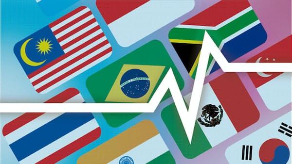 ブラジルレアルが最も上昇