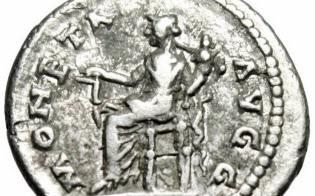 ローマ神話の女神「ユーノー・モネータ」をまつる神殿には貨幣鋳造所が併設、マネーの語源となった(古代ローマの貨幣)