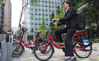 富士ゼロックス東京では、複写機の保守業務に自転車シェアリングを活用している