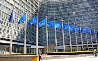 欧州委員会でも指針作りが進む(ブリュッセルの欧州委員会本部=共同)