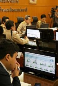 タイの7~9月期の実質経済成長率は4年半ぶりの水準に回復した(20日午前、バンコクのNESDB)