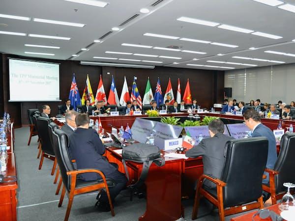 日本政府は、TPP11を通じた高いレベルのルールづくりこそ原点だと考えた(ベトナム・ダナンでの閣僚会合)