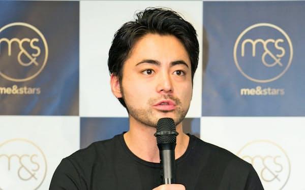 山田孝之さんは9月にトランスコスモスとECサイトの運営会社、ミーアンドスターズ(東京・渋谷)を設立した