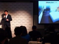 記者会見で事業概要を説明する楽天LIFULLSTAYの太田社長(29日、都内)